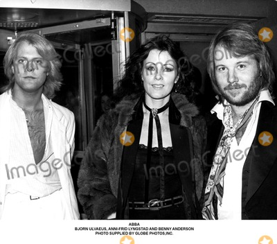 Anni Frid Lyngstad Photo - Abba Bjorn Ulvaeus Anni-frid Lyngstad and Benny Anderson Photo Supplied by Globe Photosinc