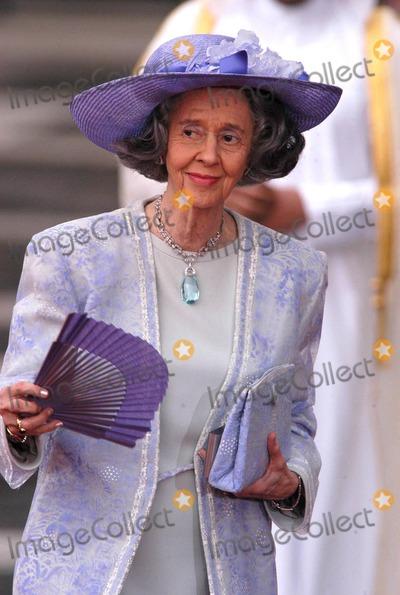 Queen Fabiola Photo - AlfaquiglobelinkukcomGlobe Photos 000803 05222004 Queen Fabiola of Belgium -Spanish Royal Wedding Prince Felip of Spain  Letizia Ortiz -Catherdral DE LA Almudena Madrid Spain