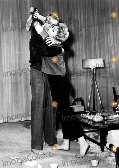 Kim Novak Photo - Jimmy Stewart and Kim Novak in Bell Book Candle 1958 Supplied by Globe Photos Inc Kimnovakretro