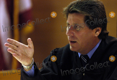 Bonnie Lee Bakley Photo - Los Angeles County Superior Court Judge Lloyd M Nash discusses the admissibility of a secret tape recording made by Bonny Lee Bakley during Robert Blakes preliminary hearing at the Van Nuys Courthouse on Wednesday February 26 2003 He allowed the tape to be played  Blake is accused of killing his wife Bonny Lee Bakley two years ago POOL PHOTOGLOBE PHOTOS INCK2929702272003