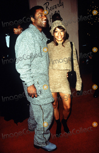 Andre Rison Photo -  Arista Pre-grammy Party at the Beverly Hils Hotel in LA 022200 Lisa Left Eye Lopez and Andre Rison Photo by Fitzroy BarrettGlobe Photos Inc