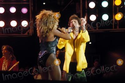 Tina Turner Photo - Live Aid Photo Globe Photo Inc 1991 Tina Turner and Mick Jagger