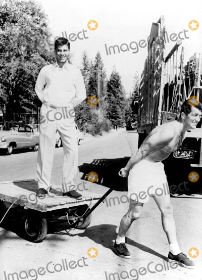 Dean Martin Photo - Jerry Lewis and Dean Martin Clown Around Between Scenes During Filming of youre Never Too Young 1955 1950s Uppa IpolGlobe Photos Inc