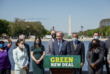 Photos From United States Representative Alexandria Ocasio-Cortez (Democrat of New York) and United States Senator Ed Markey (Democrat of Massachusetts) hold a press conference to re-introduce the Green New Deal