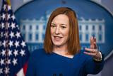 Photo - Jen Psaki briefs the media at White House