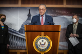 Photos From Senate Majority Leader Schumer Holds a Press Conference