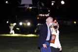 Jill Biden Photo - United States President Joe Biden walks from Marine One with first lady Dr Jill Biden on the Ellipse near the White House after spending the weekend in Wilmington Delaware on Sunday April 18 2021 in Washington DCCredit Oliver Contreras  Pool via CNP
