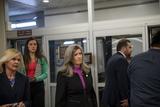 Photo - United States Senator Joni Ernst (Republican of Iowa) makes her way through the Senate subway during a vote at the US Capitol in Washington DC Wednesday July 21 2021 Credit Rod Lamkey  CNPAdMedia