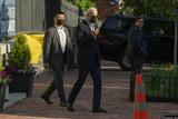 Photo - President Joe Biden departs from Holy Trinity Catholic Church