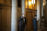 Photos From Senators Departs Senate Chamber Following a Vote