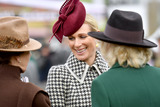 Photos From Camilla Duchess of Cornwall at Ladies Day at the Cheltenham Festival