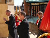 Peter Phillips Photo - Photo Must Be Credited Alpha Press 073074 17042021Prince William Duke of Cambridge Peter Phillips Prince Harry Duke of Sussex during the funeral of Prince Philip Duke of Edinburgh at St Georges Chapel in Windsor Castle in Windsor Berkshire No UK Rights Until 28 Days from Picture Shot Date AdMedia