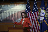 Photo - Speaker of the United States House of Representatives Nancy Pelosi (Democrat of California) offers remarks and fields questions from reporters during her press conference at the US Capitol in Washington DC Friday January 15 2021 Credit Rod Lamkey  CNPAdMedia
