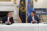 Photo - President Donald Trump participates in a roundtable with Governors on the reopening of Americas small businesses