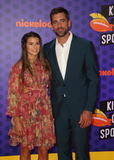 Aaron Rodgers Photo - 19 July 2018 - Santa Monica California - Danica Patrick and Aaron Rodgers Nickelodeon Kids Choice Sports Awards 2018 held at Barker Hangar Photo Credit Faye SadouAdMedia
