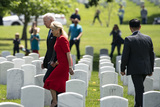 Photo - President Biden lays a wreath at Tomb of the Unknown Solider at Arlington National Cemetery