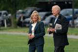 Photos From United States President Joe Biden and first lady Dr. Jill Biden depart the White House