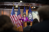 Photos From Speaker of the United States House of Representatives Nancy Pelosi (Democrat of California) offers remarks during her weekly  press conference at the US Capitol