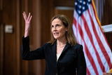 Photos From Judge Amy Coney Barrett Visits US Senate Members