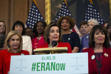 Photos From Speaker of the United States House of Representatives Nancy Pelosi (Democrat of California) on the Equal Rights Amendment