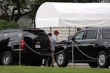 Photos From Trump Returns after Playing Golf