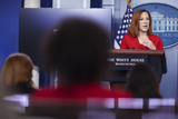 Photos From Daily press briefing with White House Press Secretary Jen Psaki