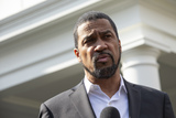 Photo - Pastor Darrell Scott speaks to members of the media outside the White House in Washington DC US after United States President Donald J Trump granted a full pardon to Edward DeBartolo Jr former owner of the San Francisco 49ers who was convicted after pleading guilty in a gambling fraud scandal in 1998  Credit Stefani Reynolds  CNPAdMedia