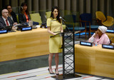 Photo - Amal Clooney is seen at The United Nations Headquarters in New York City
