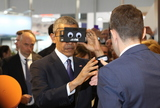 Photo - Barack Obama opening Hannover Messe