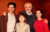 Matthew Borish Photo - OMAR METWALLY MATTHEW BORISH LOUIS ZORICH AND LENA GEORGAS ON STAGE AFTER A PERFORMANCE OF THE NEW OFF-BROADWAY PLAY BEAST ON THE MOON AT THE CENTURY CENTER FOR THE PERFORMING ARTS IN NEW YORK CITY ON 04-22-2005  PHOTO BY HENRY McGEEGLOBE PHOTOS INC 2005K42847HMC