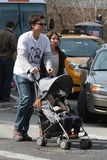 Adam Baldwin Photo - NYC  041909Jason Bateman (wearing a Built by Wendy Bloody Boys t shirt with Noah Taylor from Flirting MalcolmMcDowell from If Bud Cort from Harold  Maude and Adam Baldwin from My Bodyguard) with wifeAmanda Anka and daughter Francesca Nora (2 12 years old) walking in SOHODigital Photo by Adam Nemser-PHOTOlinknet