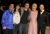 Anthony Adams Photo - London UK  Performing artists from the BBC TV series The One and Only to find the best musical tribute act in the UK at the UK Premiere of new  film  The Accidental Husband in aid of The Fire Service National Benevolent Fund at the Vue West End in Central London  L-R Moni Tivony (Lionel Ritchie) Joanna Berns (Cher) Tony Lewis (Robbie Williams) Katy Setterfield (Dusty Springfield) and Anthony Adams (Frank Sinatra)  13th  February 2008 Can NguyenLandmark Media