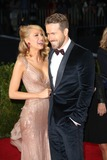 Photo - The Costume Institute Gala at the Metropolitan Museum of Art Celebrating the Opening of Charles Jamesbeyond Fashion May 5 2015 Photos by Sonia Moskowitz Globe Photos Inc 2014 Blake Lively Ryan Reynolds