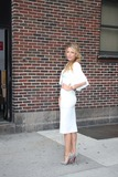 Photos From Blake Lively and Drew Brees Leaving After Taping Cbs the Late Show with David Letterman